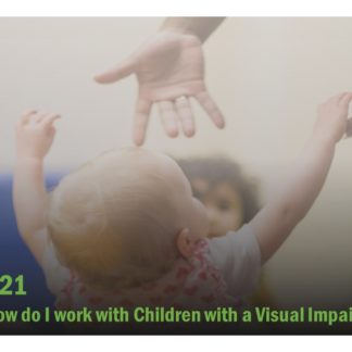 Course catalog image featuring a child reaching for a pair of hands