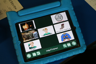 An example of a communication program installed on an iPad.