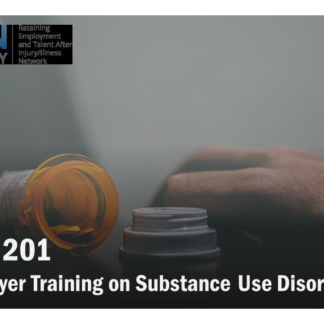 The SUD 201 course catalog image features an orange pill box sitting on its side on a table.