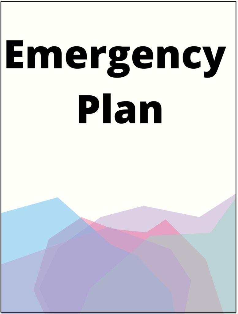 Image of an emergency plan cover.