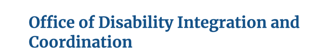 FEMA office of disability integration and coordination logo