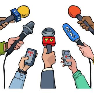 Cartoon media interview